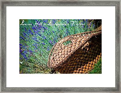 Loess Hills Lavender Framed Print by Elizabeth Gingerich
