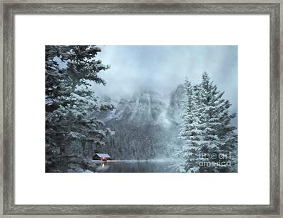 Log Cabin Enchantment Framed Print