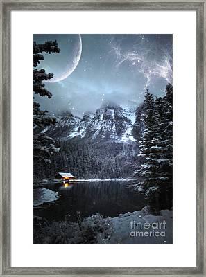 Log Cabin Whimsy Framed Print