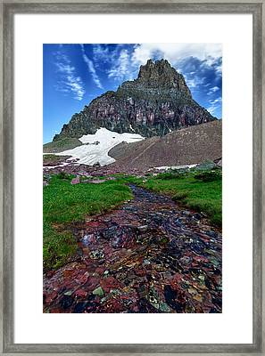 Logan Pass View Framed Print