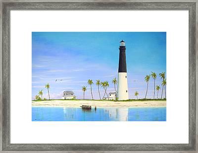 Loggerhead Key Lighthouse Framed Print