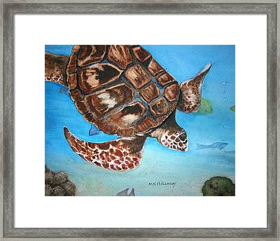 Loggerhead Turtle Framed Print by Mary Kay Holladay