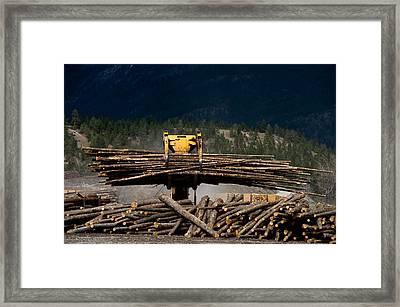Logging Machine Framed Print by Leslie Philipp