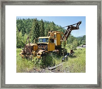 Logging Truck 2 - Burke Idaho Ghost Town Framed Print by Daniel Hagerman
