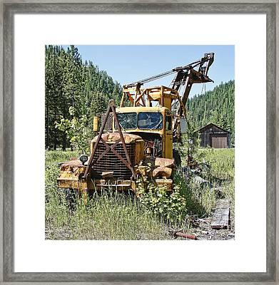 Logging Truck - Burke Idaho Ghost Town Framed Print by Daniel Hagerman
