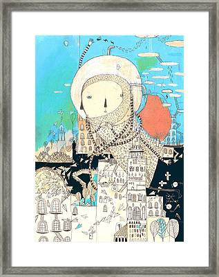 Logic Will Get You From A To B. Imagination Will Take You Everywhere Framed Print by Nayoun Kim