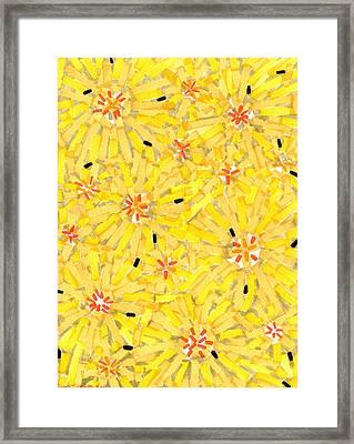 Loire Sunflowers Three Framed Print by Jason Messinger