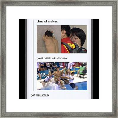 Lol Bronze: Close Enough 😜 #tomdaley Framed Print