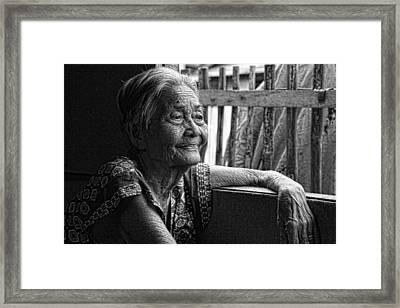 Lola Laraine Favorite Spot Image 28 In Black And White Framed Print by James BO  Insogna
