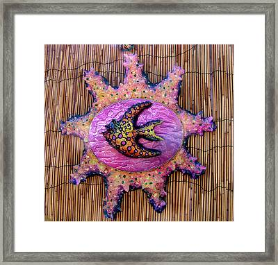 lola the Angel fish Framed Print by Dan Townsend