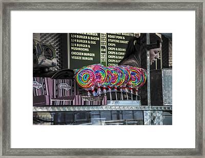 Lollies Framed Print