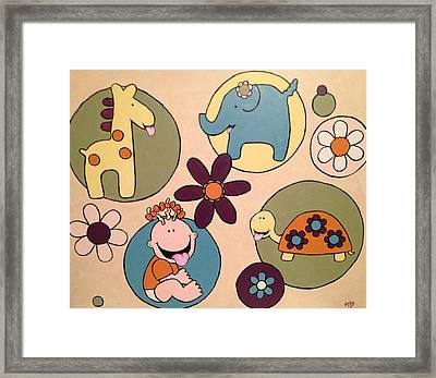 Framed Print featuring the painting Lollipop Jungle Tongue by Sheep McTavish
