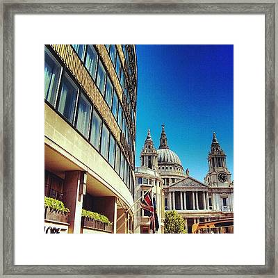 London - #greatbritain #london #uk Framed Print by Abdelrahman Alawwad