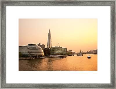 London At Dusk Framed Print by Svetlana Sewell