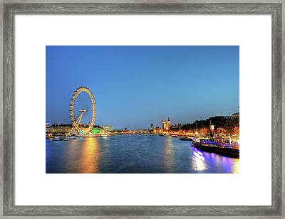 London At Night Framed Print by Thank you for choosing my work.