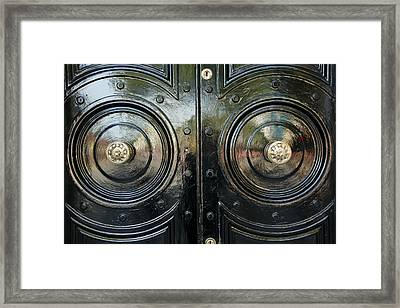London Brass Framed Print