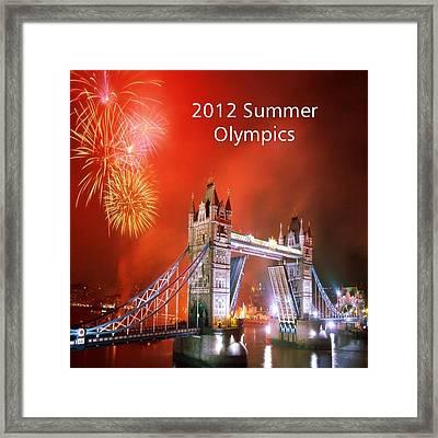 London Bridge 2012 Olympics Framed Print by Florene Welebny