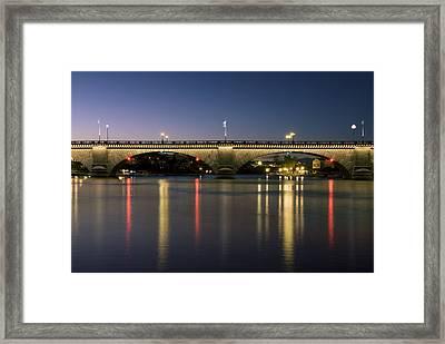 London Bridge At Dusk Framed Print by Gloria & Richard Maschmeyer