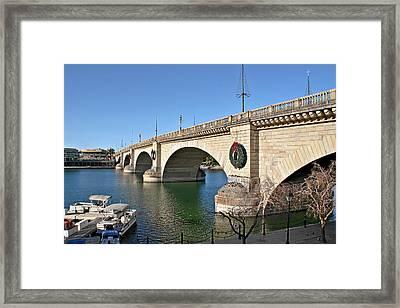 London Bridge Lake Havasu City - The World's Largest Antique Framed Print by Christine Till