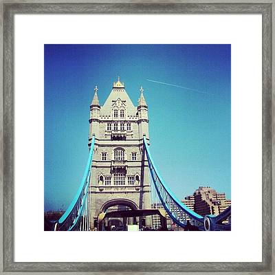London Bridge, May - 2012 #london Framed Print by Abdelrahman Alawwad