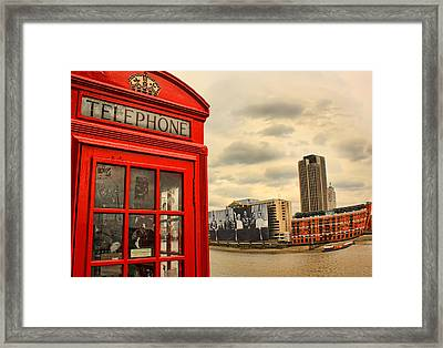 London Calling Framed Print by Jasna Buncic
