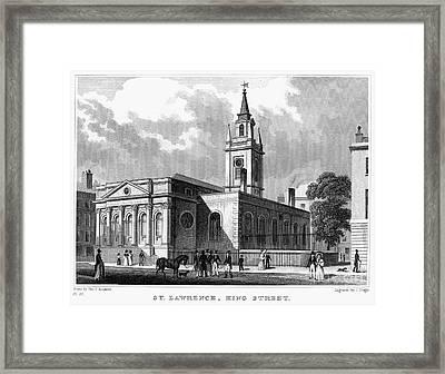 London: Church, C1830 Framed Print by Granger