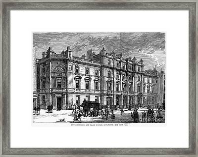 London: Courthouse, 1880 Framed Print