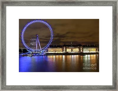 London Eye @ Night Framed Print by Ronald Monong