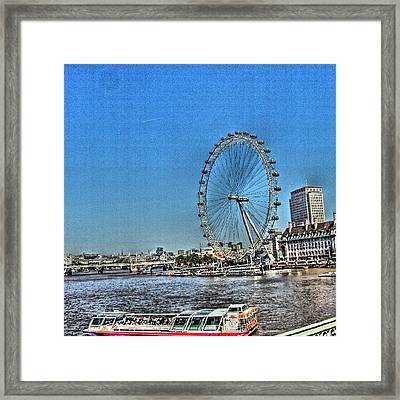London Eye, #london #londoneye Framed Print