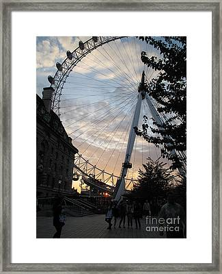 Framed Print featuring the photograph London Eye by Louise Peardon