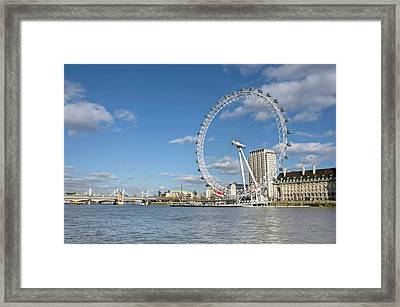 London Eye Framed Print by Paul Biris