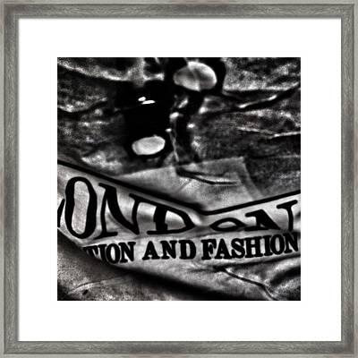 London Fashion Framed Print