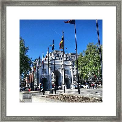 #london #hyepark #sunny #uk #england Framed Print