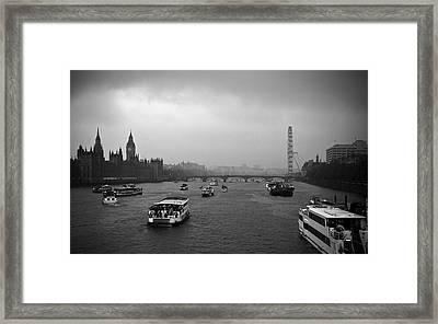 Framed Print featuring the photograph London Jubilee 2012 by Lenny Carter