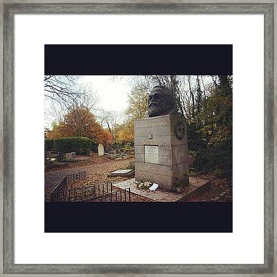 #london #karlmarx #marx #communist Framed Print