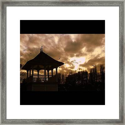 #london #kingston #thamespath Framed Print