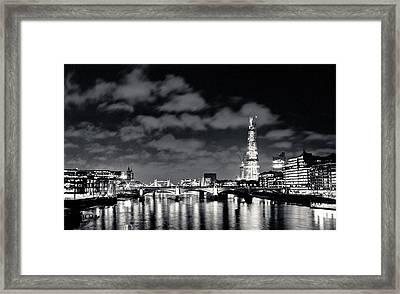 London Lights At Night Framed Print
