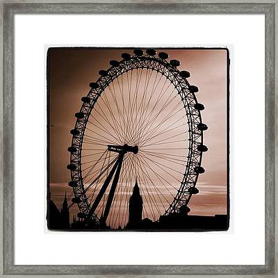 #london #londoneye #bigben Framed Print