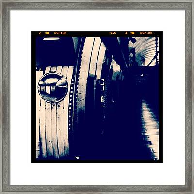 #london #londonpop #underground #bnw Framed Print by Ritchie Garrod