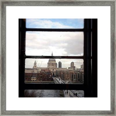 London Love Affair #photooftheday Framed Print