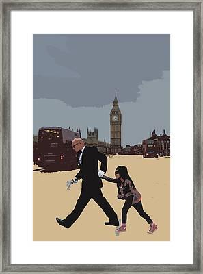 London Matrix Baddie Agent Smith Framed Print