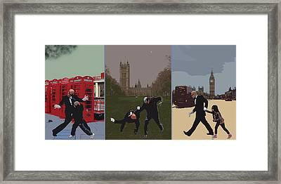 London Matrix Triptych Framed Print by Jasna Buncic