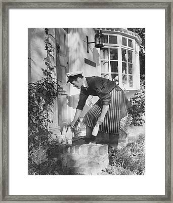 London Milkman Framed Print by Fox Photos