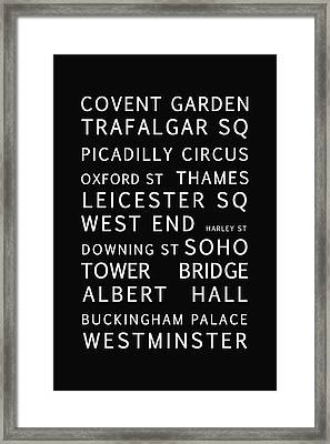 London Framed Print by Georgia Fowler