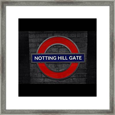 #london #nottinghillgate #underground Framed Print by Ozan Goren