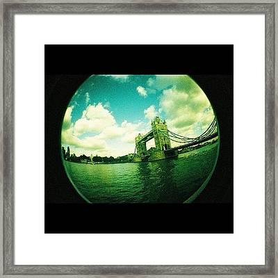 #london Framed Print