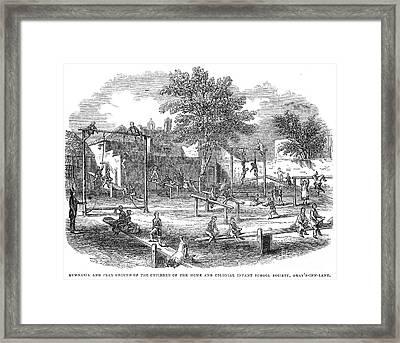 London Playground, 1843 Framed Print by Granger