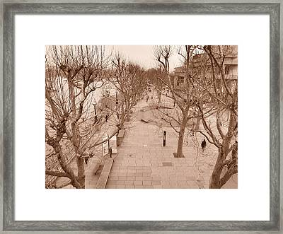 London River Walk Framed Print