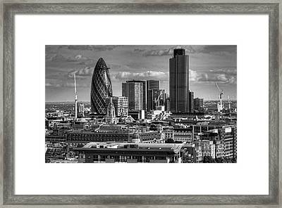 Framed Print featuring the photograph London Skyline Bw I by Jack Torcello