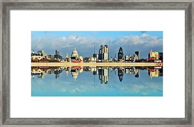 London Skyline Framed Print by Sharon Lisa Clarke